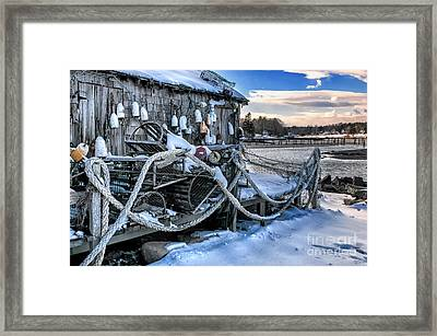 Lobster Shack At Cape Neddick  Framed Print by Thomas Schoeller