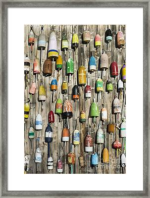 Lobster Shack Buoys Framed Print by John Greim