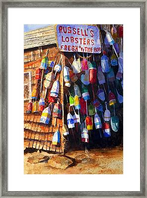 Lobster Shack Framed Print by Suzy Pal Powell
