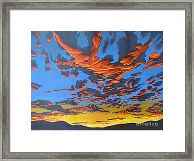 Lobster Sky Framed Print