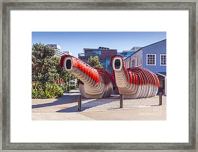 Lobster Toilets Wellington New Zealand Framed Print