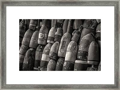 Lobster Trap Bouys Framed Print by Fred LeBlanc