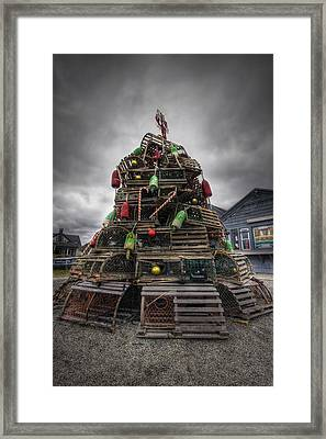 Lobster Trap Tree Framed Print by Eric Gendron