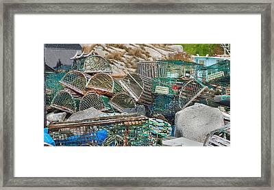 Lobster Traps  Framed Print by Betsy Knapp