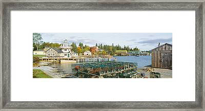 Lobster Village In Autumn, Southwest Framed Print by Panoramic Images