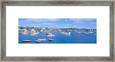 Lobster Village, Northeast Harbor Framed Print by Panoramic Images