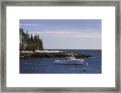 Lobsterboat In Spruce Head On The Coast Of Maine Framed Print by Keith Webber Jr