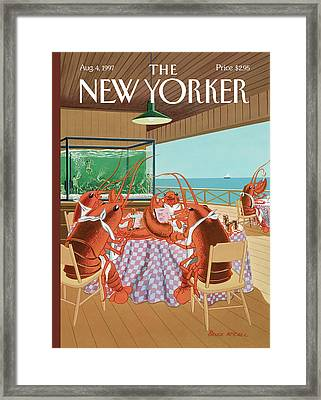 Lobsterman's Special Framed Print by Bruce McCall