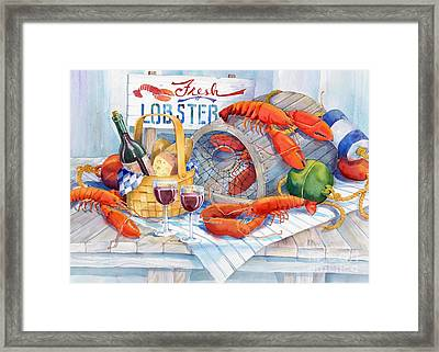Lobsters Galore Framed Print by Paul Brent