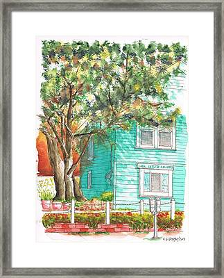 Local Artists Gallery, Monterey, California Framed Print