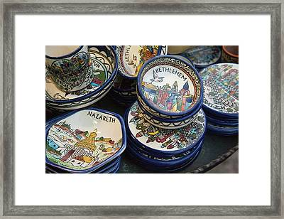 Local Ceramic Ware With Biblical Themes Framed Print by Dave Bartruff
