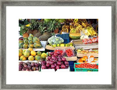 Local Corner Fruit Store In Taiwan Framed Print