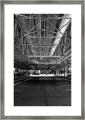 Local Farmers Framed Print by Mark Alder