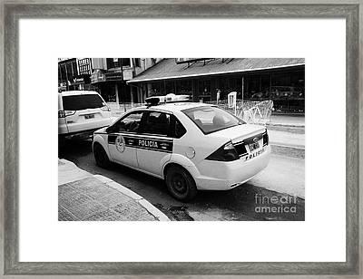 local provincial tierra del fuego police patrol car policia Ushuaia Argentina Framed Print by Joe Fox