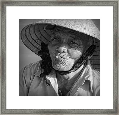 Framed Print featuring the photograph Local River Man by Kim Andelkovic