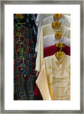Local Shirts For Sale, Dali, Yunnan Framed Print by Panoramic Images