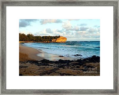Local Surf Spot Kauai Framed Print