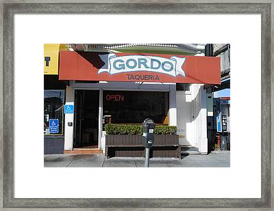 Local Taqueria Framed Print by Molly Costa