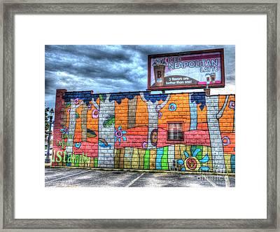 Local Vs. Chain Framed Print by MJ Olsen
