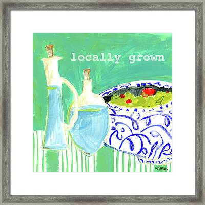 Locally Grown Framed Print by Pamela J. Wingard