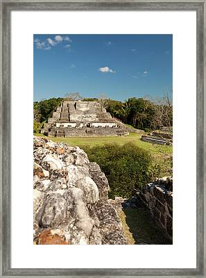 Located 30 Miles From Belize City Framed Print by Michele Benoy Westmorland