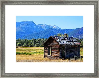 Framed Print featuring the photograph Location Location Location Montana by Joseph J Stevens