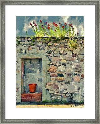 Framed Print featuring the painting Location With A View by Jeff Kolker