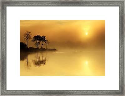 Loch Ard Morning Glow Framed Print by Grant Glendinning