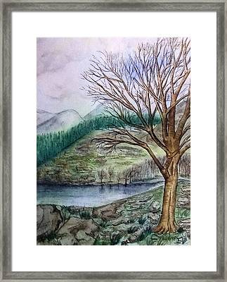 Loch Ard Stirling Overlooking Loch A'ghleannain Framed Print