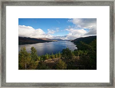 Framed Print featuring the photograph Loch Carron by Stephen Taylor