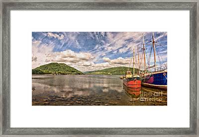 Loch Fyne Digital Painting Framed Print by Antony McAulay