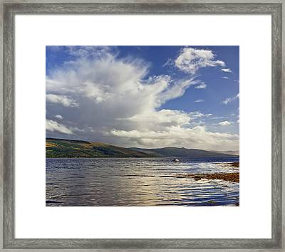 Framed Print featuring the photograph Loch Fyne Scotland by Jane McIlroy