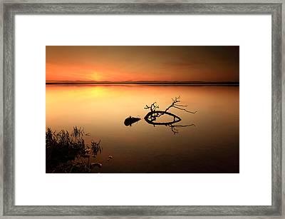Loch Leven Sunset Framed Print