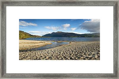 Loch Lomond Pano Framed Print by Jane Rix