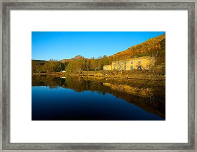 Framed Print featuring the photograph Loch Lomond Power Station by Stephen Taylor