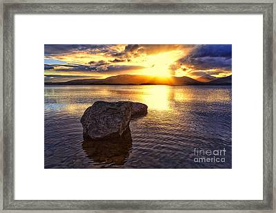 Loch Lomond Sunset Framed Print by John Farnan