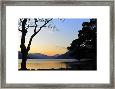Loch Lomond Sunset Framed Print by The Creative Minds Art and Photography