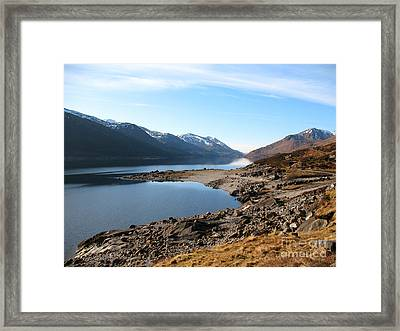 Framed Print featuring the photograph Loch Mullardoch by Jacqi Elmslie