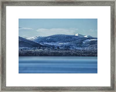 Loch Ness Winter Blues Framed Print by Jacqi Elmslie