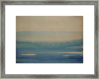 Framed Print featuring the painting Loch Of My Heart by Mini Arora