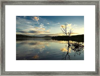 Framed Print featuring the photograph Loch Rannoch Relflections by Stephen Taylor