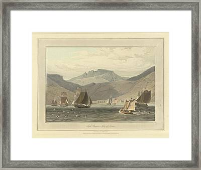 Loch Ranza On The Isle Of Arran Framed Print by British Library