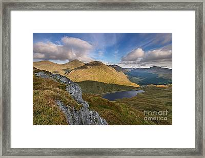 Loch Restil And The Rest And Be Thankful Framed Print by Rod McLean