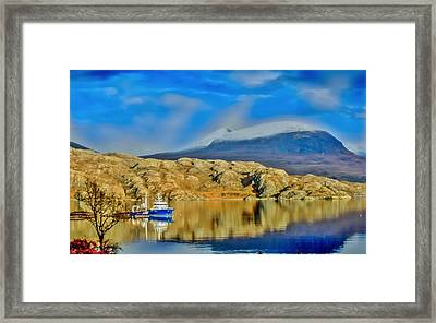 Loch Shieldaig In Assynt In The Scottish Highlands Framed Print by Tylie Duff