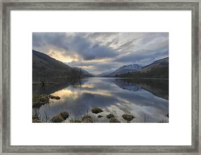 Loch Voile As Sundown Approaches Framed Print