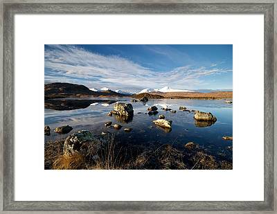 Framed Print featuring the photograph Lochan Na H-achlaise by Stephen Taylor