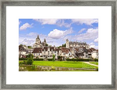 Loches Loire Valley France Framed Print by Colin and Linda McKie