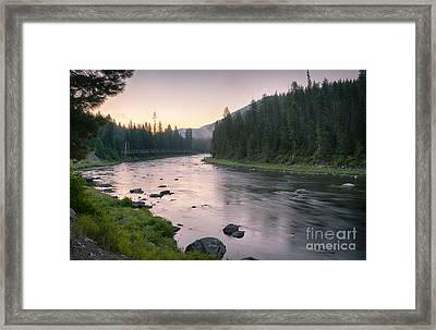 Lochsa Dawn Framed Print