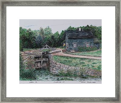 Lock 12 Color Framed Print
