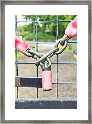 Lock And Chain Framed Print
